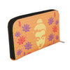 Buddha With Lotus Zipper Women's Clutch
