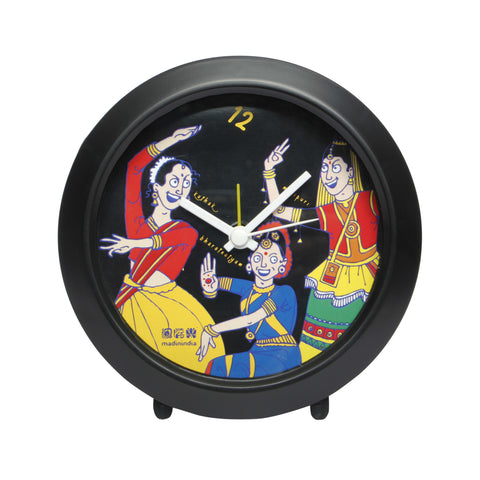 Indian Dance Forms Table Clock Round