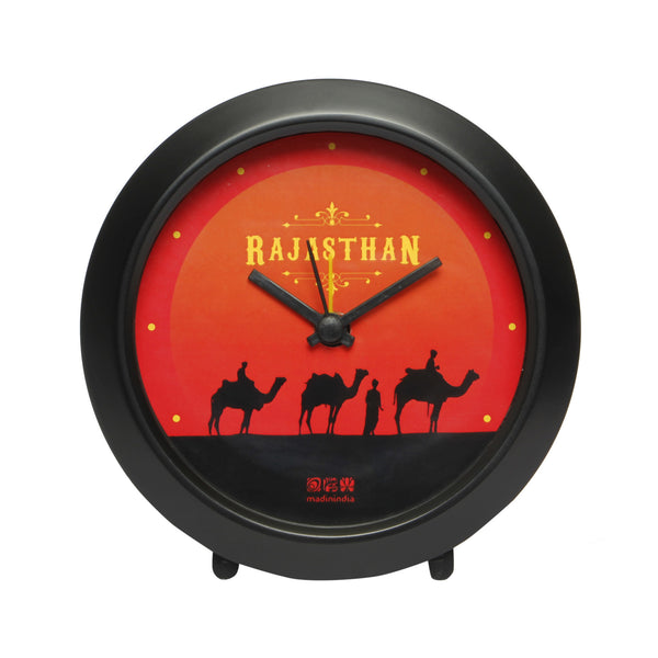 Rajasthan Table Clock Round