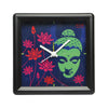Buddha With Lotus Table Clock Square