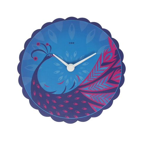 Classic Peacock - Round Wall clock