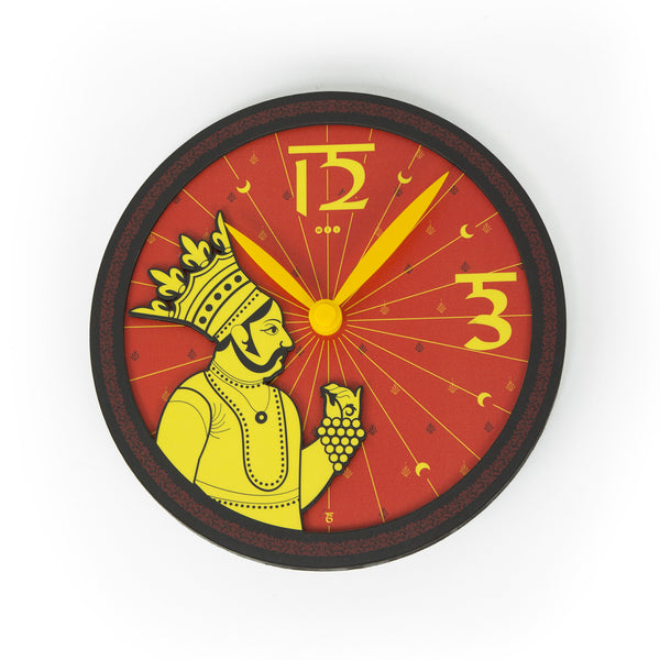 Royal Maharaja 3D Wall Clock - Round