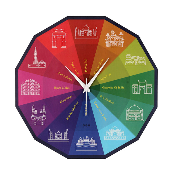 Indian Monuments Wall Clock