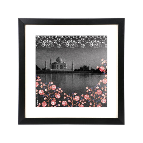 "Taj on River Wall Frame - 12"" x 12"""