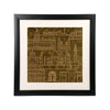 "Indian Monuments Wall Frame - 18"" x 18"""