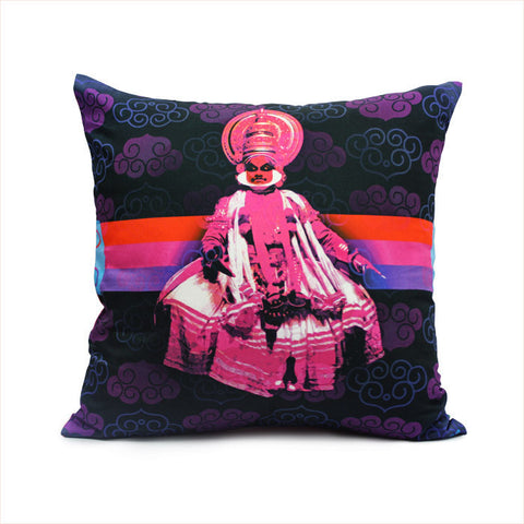 Kathakali Dancer Cushion Cover