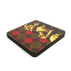 Khajurho Coaster Set with Stand - Set of 4