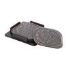 5 Paisa Coaster Set - Set of 4 with Stand