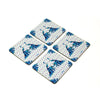 Classic Peacock Coaster - Set of 4 with Stand