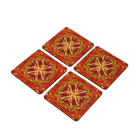 Kathputali Coaster - Set of 4 with Stand