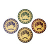 Mucchad Coaster Set - Set of 4 with Stand