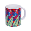 Peacock Collage Coffee Mug