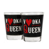 Vodaka Queen Shot Glasses -Set of 2