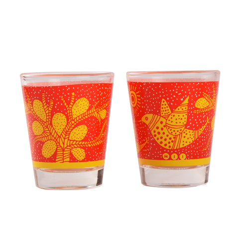 Gond Art Shot Glasses -Set of 2