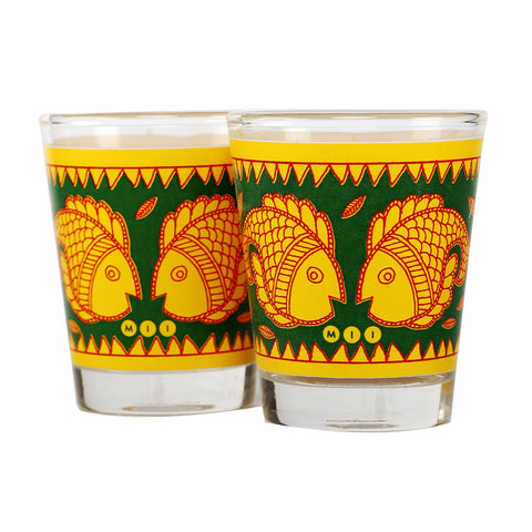 Madhubani Shot Glasses -Set of 2