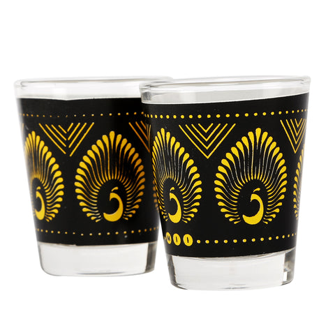 Peacock Shot Glasses -Set of 2