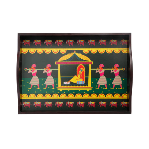 Maharaja in Palki Serving Tray