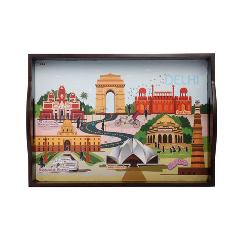 Delhi City Serving Tray Small