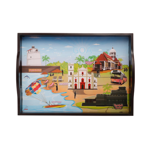 Goa City Serving Tray Small