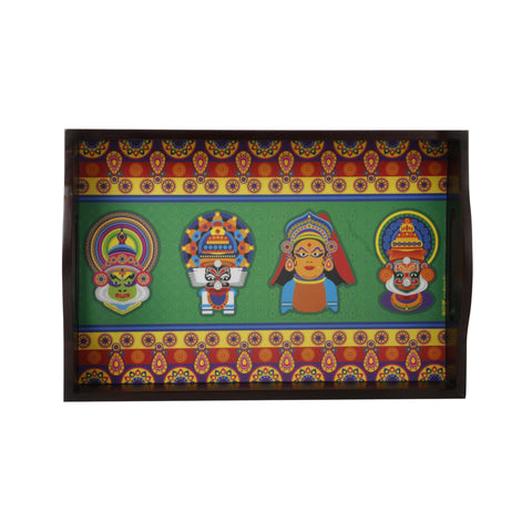 Kathakali Dancers Tray Small