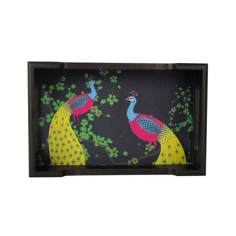Peacock Pair Tray   Mini