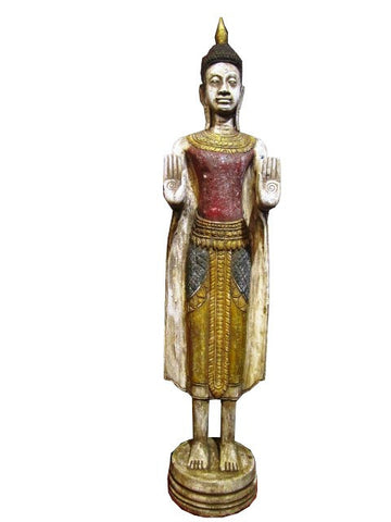 Reproduction of Antique Standing Buddha 100cm - Cambodia Arts and Crafts