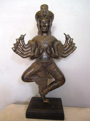 Standing Vishnu with multiple arms 36cm - Cambodia Arts and Crafts