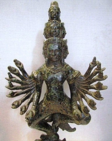 Multiple Arms Vishnu in Bronze 42cm - Cambodia Arts and Crafts