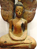 Old Wood of Saturday Buddha Sculpture 95cm - Cambodia Arts and Crafts