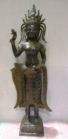 Apsara Dancing Girl in Bronze - Cambodia Arts and Crafts