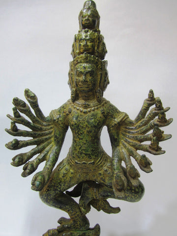 Khmer Style Bronze Shiva Antique Color 43cm - Cambodia Arts and Crafts