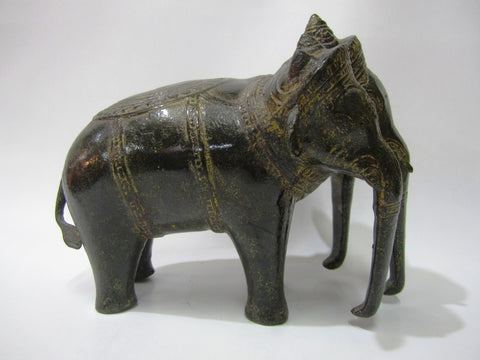 Khmer Airavata Elephant Antique Color 18cm - Cambodia Arts and Crafts