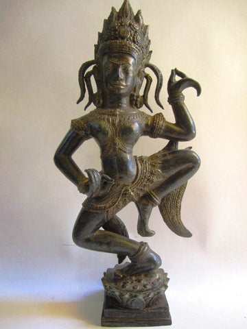 Khmer Style Apsara Antique Color 44cm - Cambodia Arts and Crafts