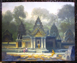 Banteay Srei Temple in Oil Painting 80x100cm - Cambodia Arts and Crafts