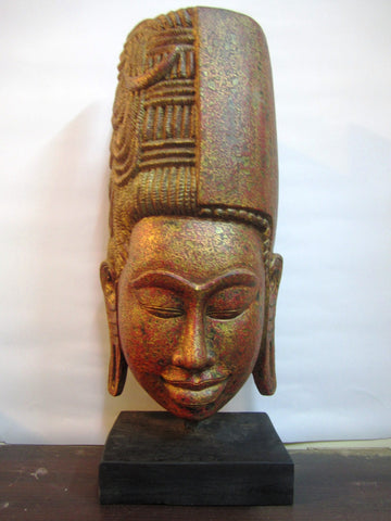 Golden Teak of Harihara 57cm - Cambodia Arts and Crafts