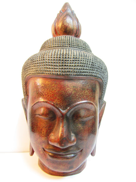 Teak Buddha Head 51cm - Cambodia Arts and Crafts