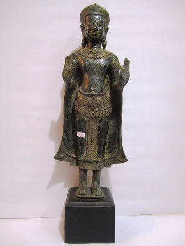 Standing Buddha in Phnomda Style with Two Hands Held Out 59cm - Cambodia Arts and Crafts