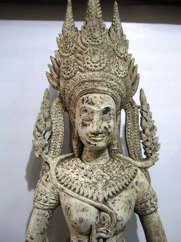 Teak Apsara Dancing H97cm - Cambodia Arts and Crafts