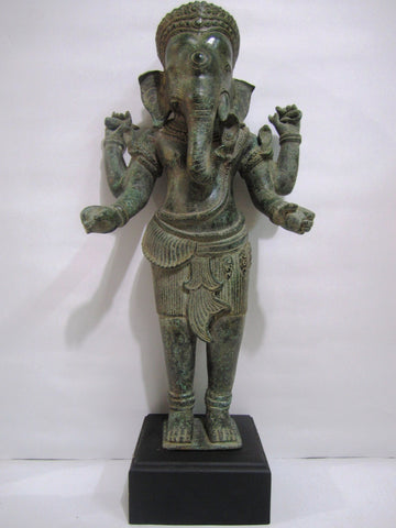 Bronze, Khmer Style Standing Ganesh 59cm - Cambodia Arts and Crafts