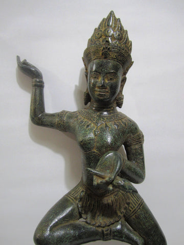 Khmer Bronze Apsara Antique Color - Cambodia Arts and Crafts