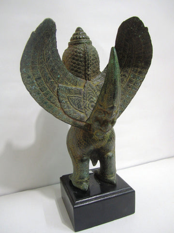 Bronze Garuda, Khmer Style Garuda in Bronze H36cm - Cambodia Arts and Crafts