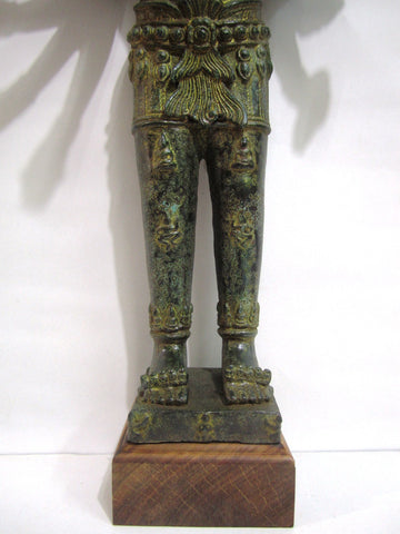 Antique Color Vishnu, Khmer Style Vishnu in Bronze 57cm - Cambodia Arts and Crafts