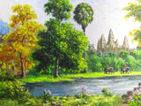 Unique Original Oil Painting, Angkorwat by Keo 100x200cm