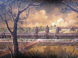 Angkorwat Aerial View, Signed Original 100x200cm - Cambodia Arts and Crafts