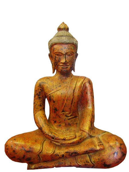 Teak Meditation Buddha 50cm - Cambodia Arts and Crafts