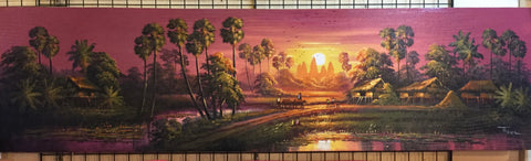 Landscape, Cambodia Landscape 40cm x 150cm - Cambodia Arts and Crafts