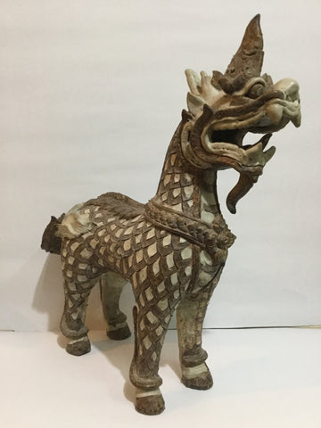Antique Color Singha H50cm - Cambodia Arts and Crafts