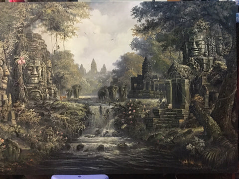 Made up Angkorwat, Angkorwat Painting 100x200cm