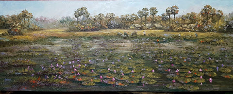 Countryside 70cmx200cm - Cambodia Arts and Crafts