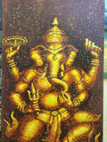 Ganesha, Hindu God, Ganesh Oil Painting 70 x 140cm - Cambodia Arts and Crafts